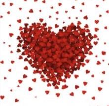 שקיות דליה לבבות