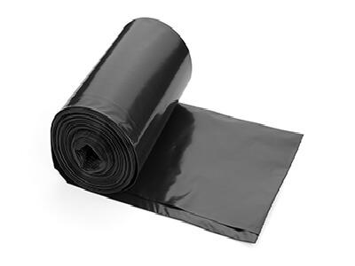 אשפתונים 75/90 שחור LD מחוזק 820 גר' גליל, 25 שקיות בגליל