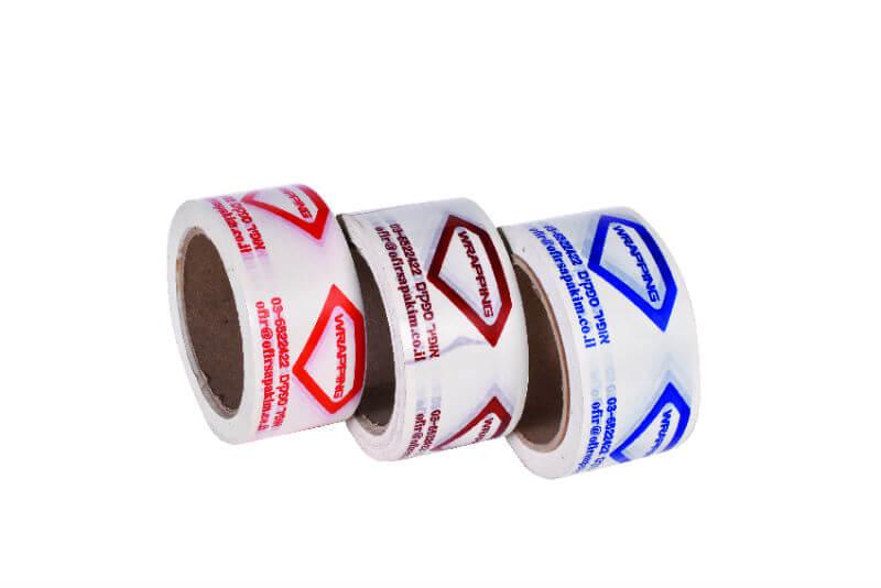 סרטי הדבקה מודפסים צבע אחד PVC
